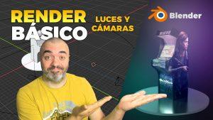 Luces, cámaras y render básico en Blender