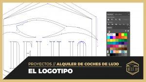 Diseñando el logotipo para DELUJO
