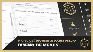 Diseño menús y sidebar en Elementor - DELUJO