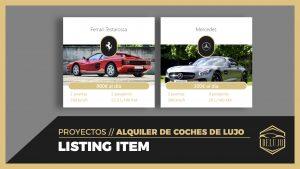 Diseñando el LISTING ITEM de los coches - DELUJO