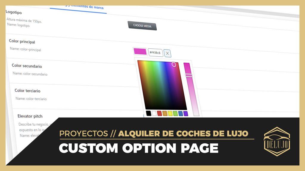 La Máquina del Branding - option page