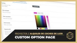 JET Engine Option Pages - Panel de opciones para el negocio - DELUJO