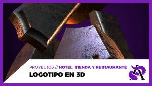 LOGOTIPO en 3D con After Effects // ARKHAM - Hotel, tienda y restaurante