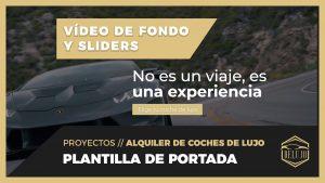 PLANTILLA de PORTADA con SLIDERS y VÍDEO de fondo - DELUJO
