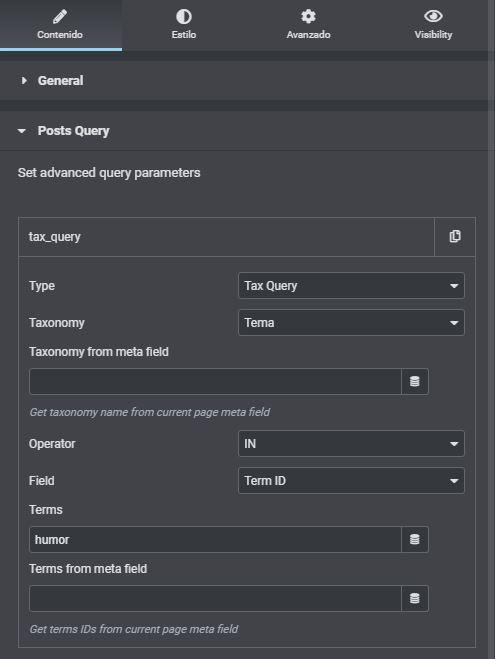El listing grid que no mostraba los posts de una categoría en concreto - listing error 3