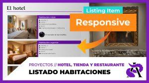 Listing grid de habitaciones + Responsive Listing Item