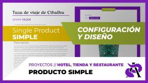 Producto SIMPLE de WooCommerce - Configuración y diseño