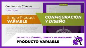 Producto VARIABLE de WooCommerce - Configuración y diseño
