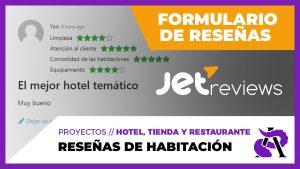 RESEÑAS o REVIEWS para las habitaciones del Hotel