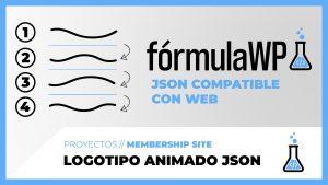 Logotipo animado vectorial con JSON - fórmulaWP