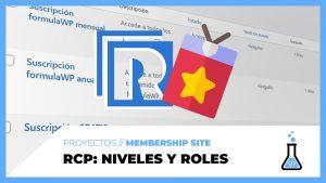 Restrict Content PRO - Niveles de membresía y roles - fórmulaWP
