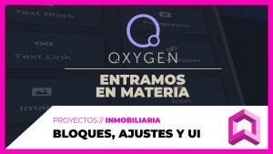 OXYGEN - Bloques, ajustes, estilos globales e interfaz