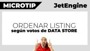 Cómo ordenar un listing por el número de votos o likes de DATA STORES