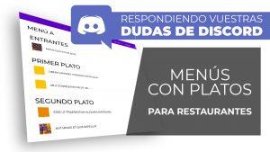 Menús de un restaurante con platos relacionados y ordenados por tipo - Dudas de Discord