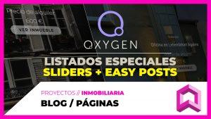 Listados y layouts ESPECIALES en Oxygen con SLIDERS y con Easy Posts